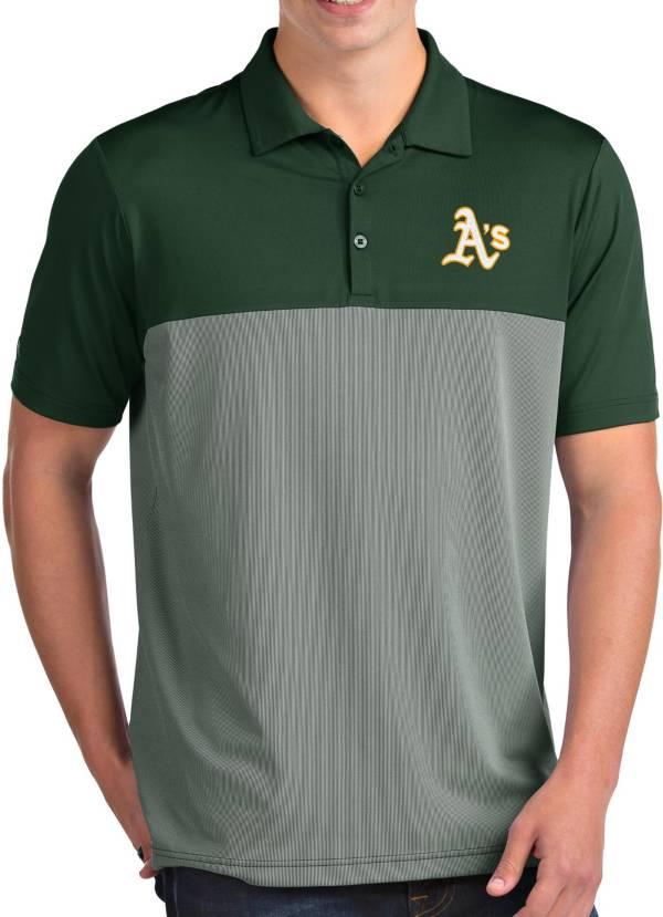 Antigua Men's Oakland Athletics Venture Green Performance Polo product image