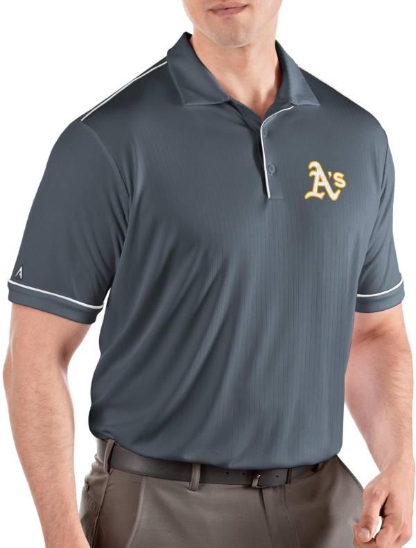 Antigua Men's Oakland Athletics Salute Grey Performance Polo product image