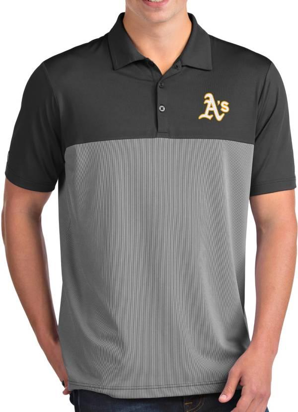 Antigua Men's Oakland Athletics Venture Grey Performance Polo product image