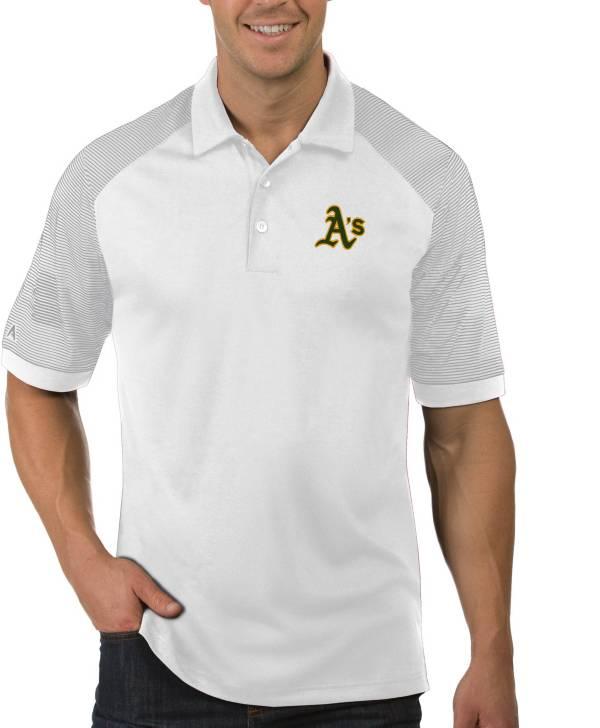 Antigua Men's Oakland Athletics Engage White Polo product image