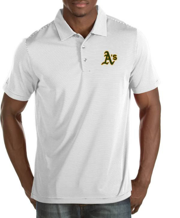 Antigua Men's Oakland Athletics Quest White Performance Polo product image