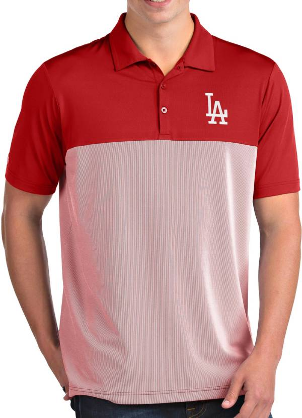 Antigua Men's Los Angeles Dodgers Venture Red Performance Polo product image