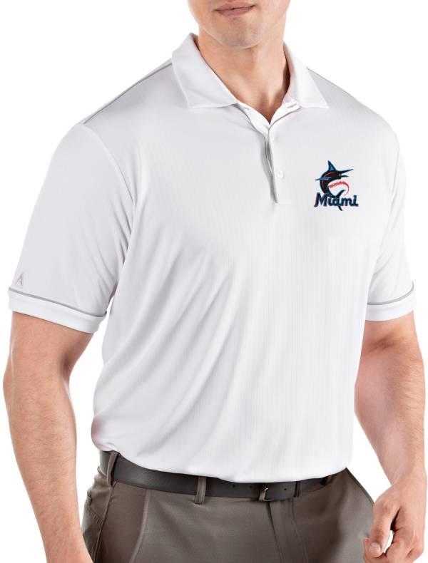 Antigua Men's Miami Marlins Salute White Performance Polo product image