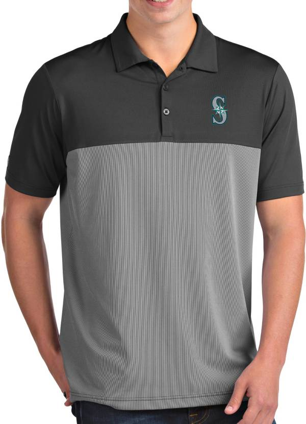 Antigua Men's Seattle Mariners Venture Grey Performance Polo product image