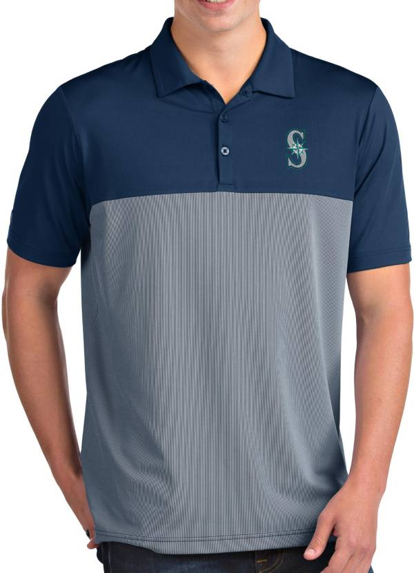 Antigua Men's Seattle Mariners Venture Navy Performance Polo product image