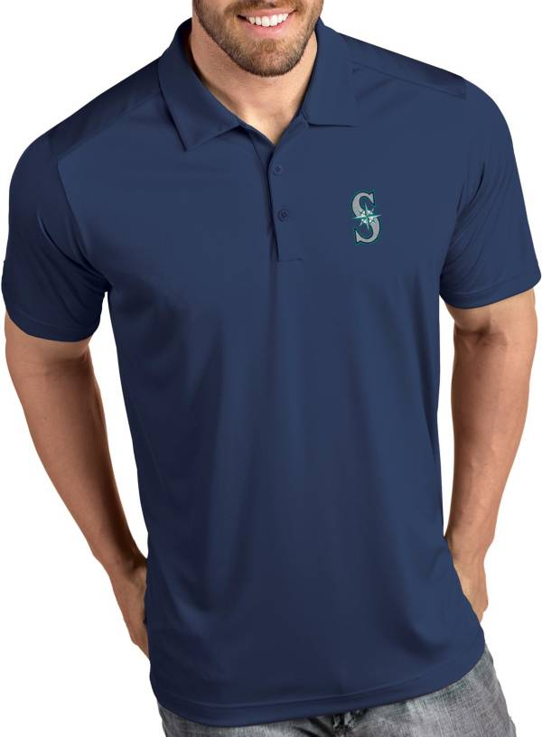 Antigua Men's Seattle Mariners Tribute Navy Performance  Polo product image