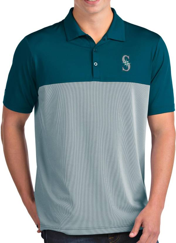 Antigua Men's Seattle Mariners Venture Teal Performance Polo product image