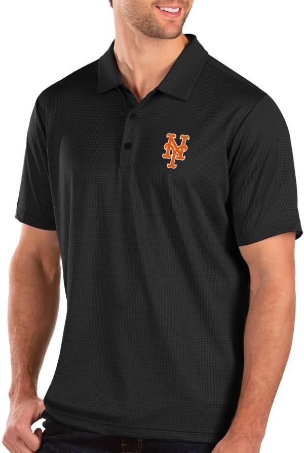Antigua Men's New York Mets Black Balance Polo product image