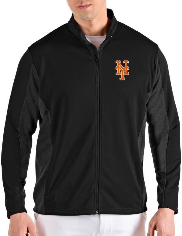Antigua Men's New York Mets Black Passage Full-Zip Jacket product image