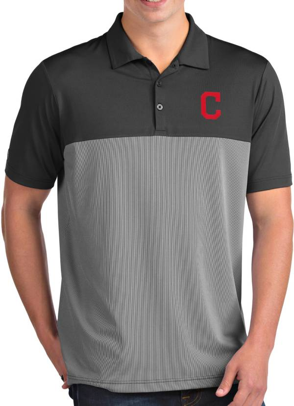 Antigua Men's Cleveland Indians Venture Grey Performance Polo product image