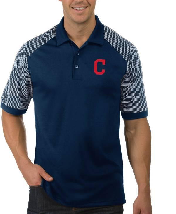 Antigua Men's Cleveland Indians Engage Navy Polo product image