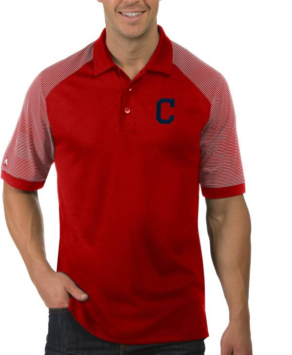 Antigua Men's Cleveland Indians Engage Red Polo product image