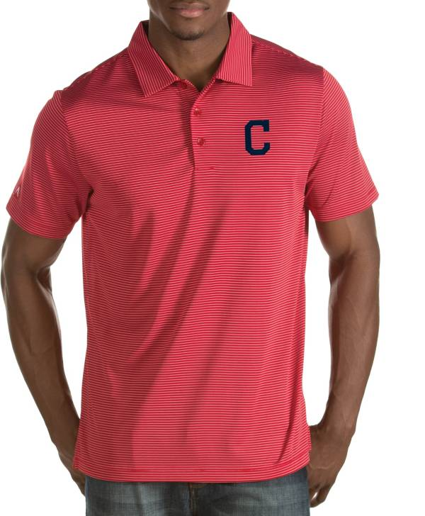 Antigua Men's Cleveland Indians Quest Red Performance Polo product image