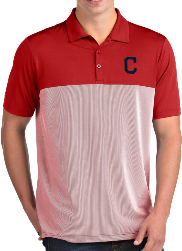 Antigua Men's Cleveland Indians Venture Red Performance Polo product image