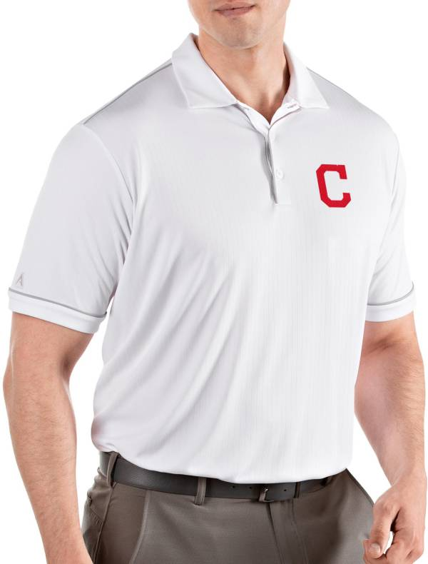 Antigua Men's Cleveland Indians Salute White Performance Polo product image
