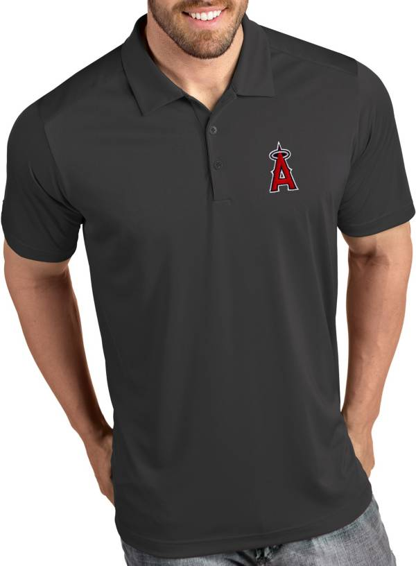 Antigua Men's Los Angeles Angels Tribute Grey Performance  Polo product image