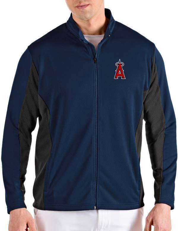Antigua Men's Los Angeles Angels Navy Passage Full-Zip Jacket product image