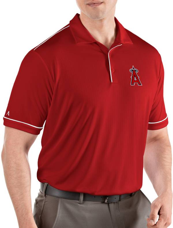 Antigua Men's Los Angeles Angels Salute Red Performance Polo product image