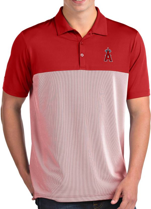 Antigua Men's Los Angeles Angels Venture Red Performance Polo product image
