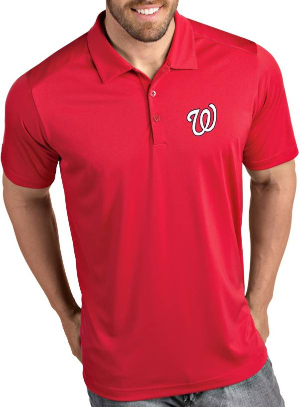 Antigua Men's Washington Nationals Tribute Red Performance  Polo product image