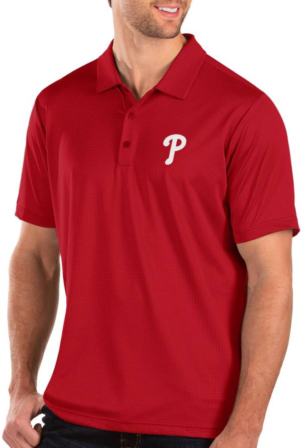 Antigua Men's Philadelphia Phillies Red Balance Polo product image