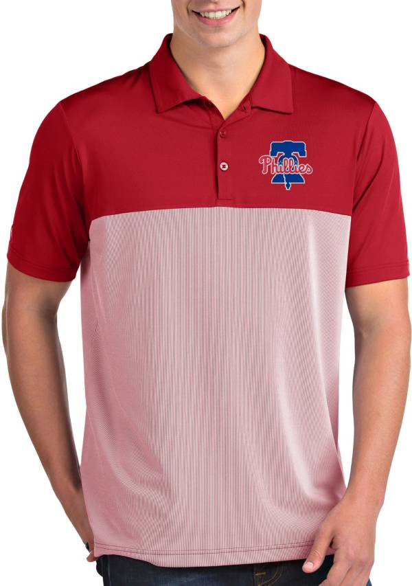 Antigua Men's Philadelphia Phillies Venture Red Performance Polo product image