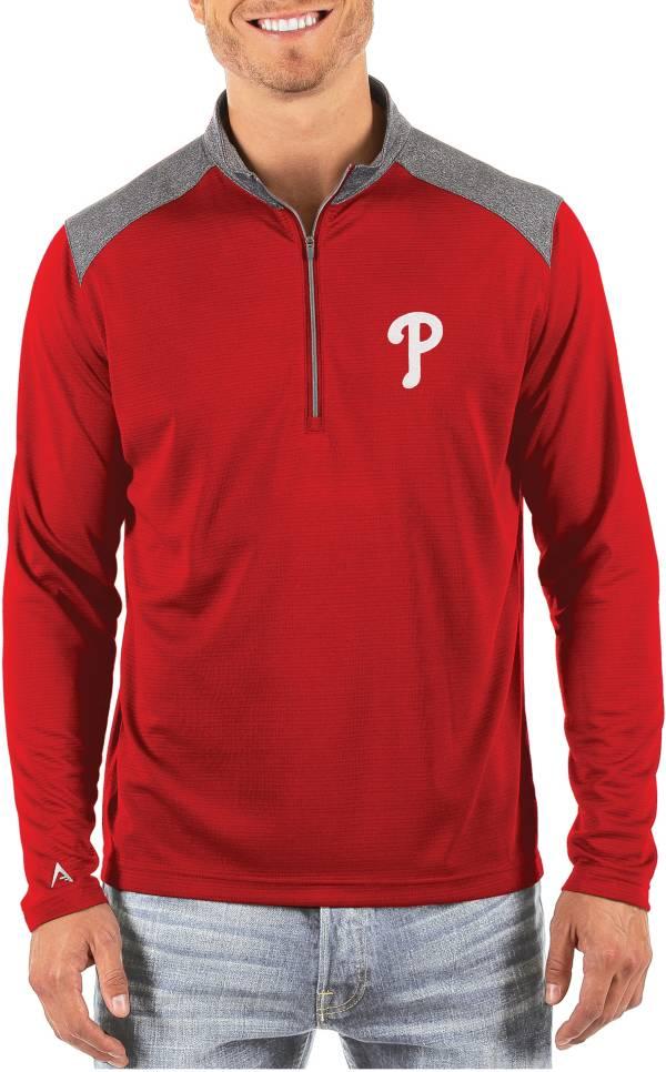 Antigua Men's Philadelphia Phillies Velocity Quarter-Zip Pullover product image