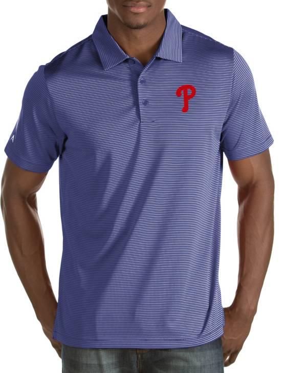 Antigua Men's Philadelphia Phillies Quest Royal Performance Polo product image