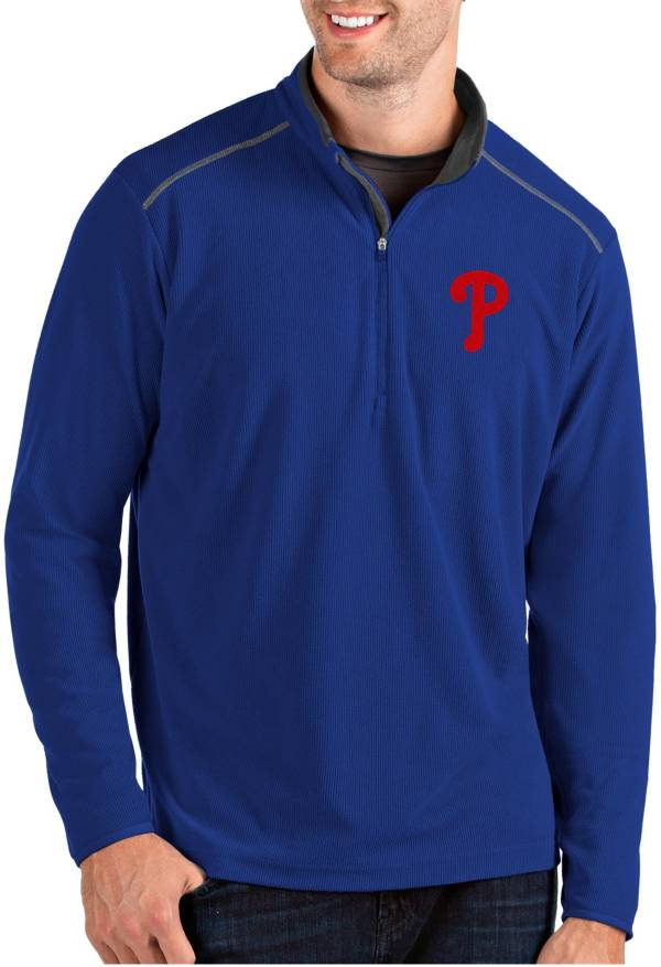 Antigua Men's Philadelphia Phillies Royal Glacier Quarter-Zip Pullover product image