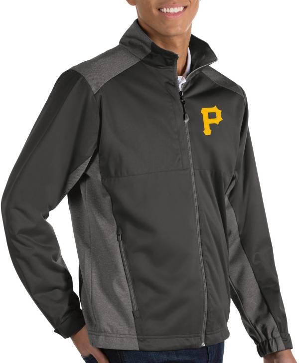 Antigua Men's Pittsburgh Pirates Revolve Grey Full-Zip Jacket product image