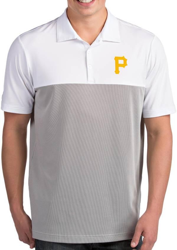 Antigua Men's Pittsburgh Pirates Venture White Performance Polo product image
