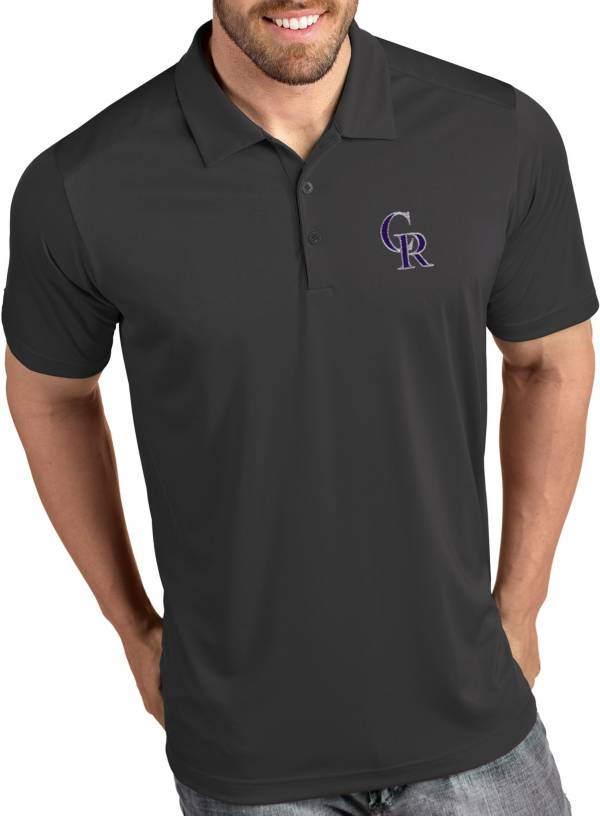 Antigua Men's Colorado Rockies Tribute Grey Performance  Polo product image