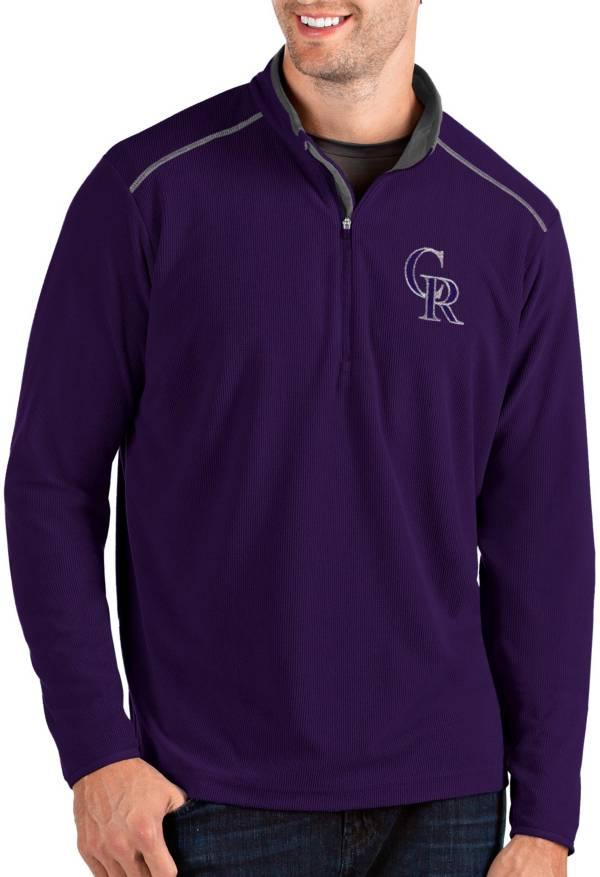 Antigua Men's Colorado Rockies Purple Glacier Quarter-Zip Pullover product image