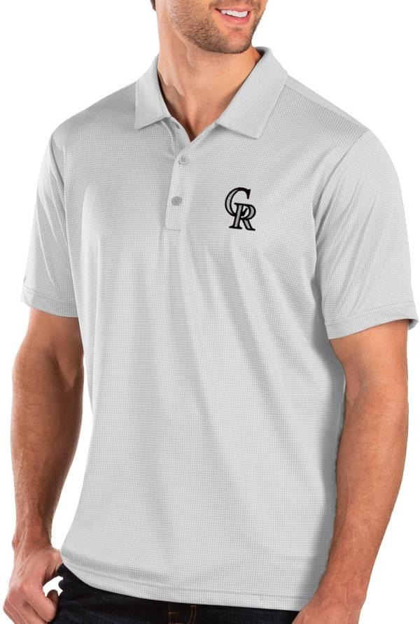 Antigua Men's Colorado Rockies White Balance Polo product image