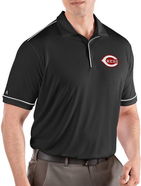 Antigua Men's Cincinnati Reds Salute Black Performance Polo product image