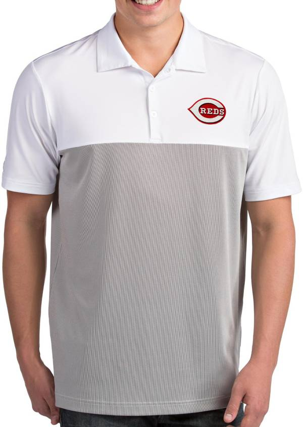 Antigua Men's Cincinnati Reds Venture White Performance Polo product image