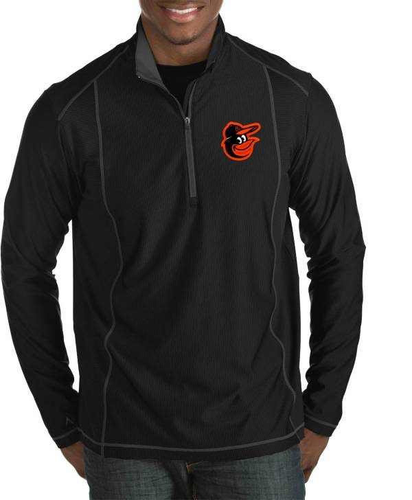 Antigua Men's Baltimore Orioles Tempo Black Quarter-Zip Pullover product image