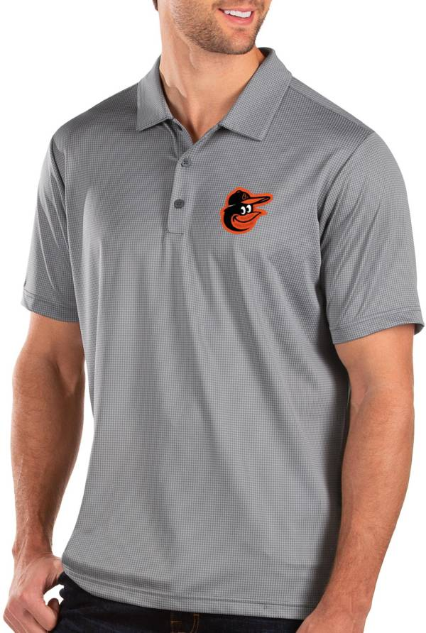 Antigua Men's Baltimore Orioles Grey Balance Polo product image