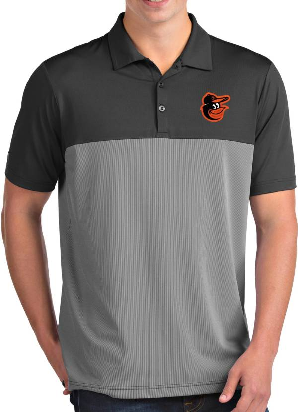 Antigua Men's Baltimore Orioles Venture Grey Performance Polo product image