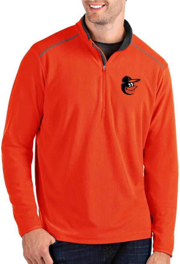 Antigua Men's Baltimore Orioles Orange Glacier Quarter-Zip Pullover product image