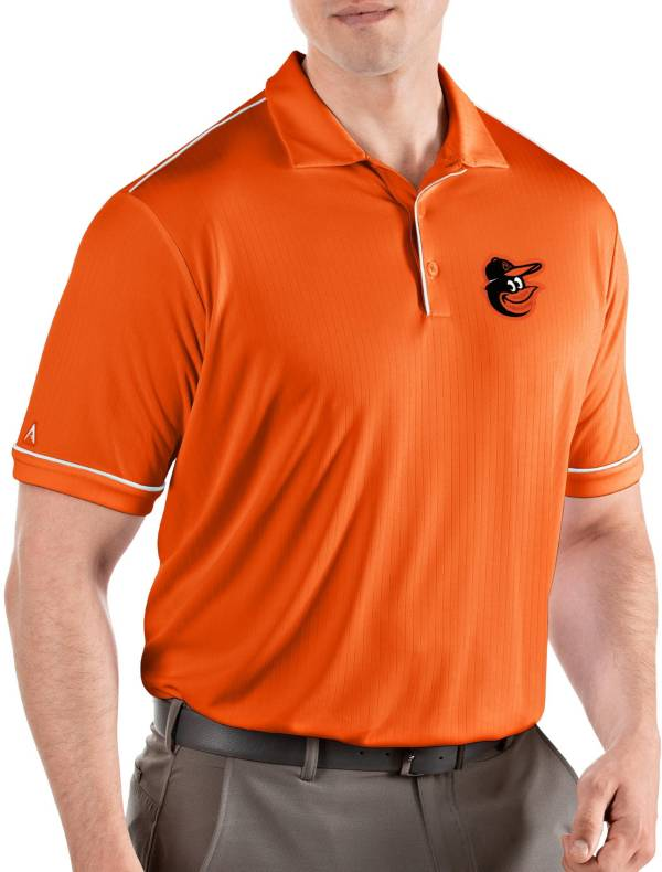 Antigua Men's Baltimore Orioles Salute Orange Performance Polo product image