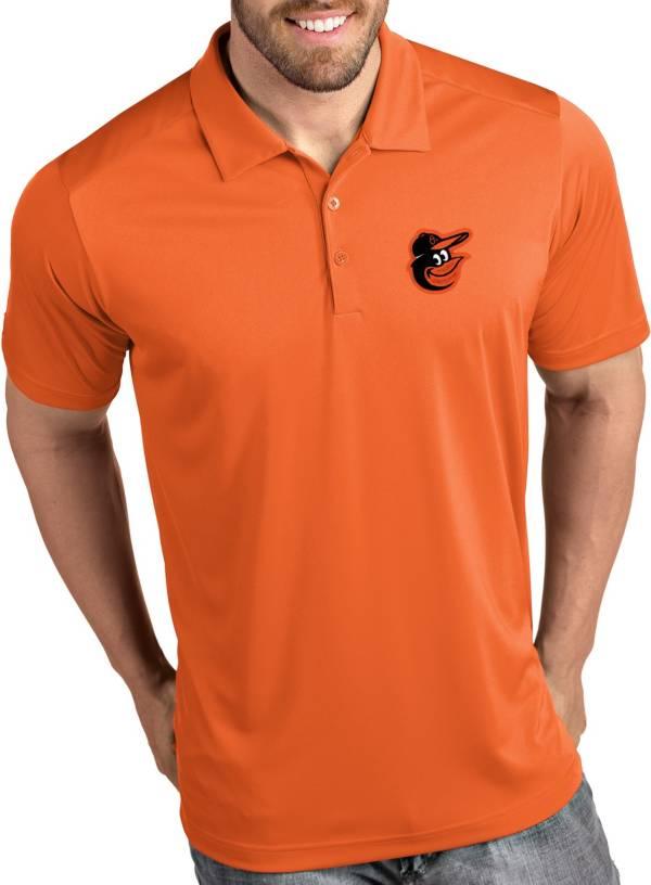 Antigua Men's Baltimore Orioles Tribute Orange Performance  Polo product image