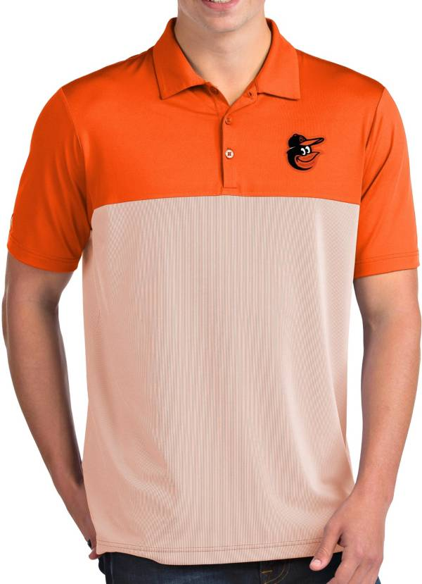 Antigua Men's Baltimore Orioles Venture Orange Performance Polo product image