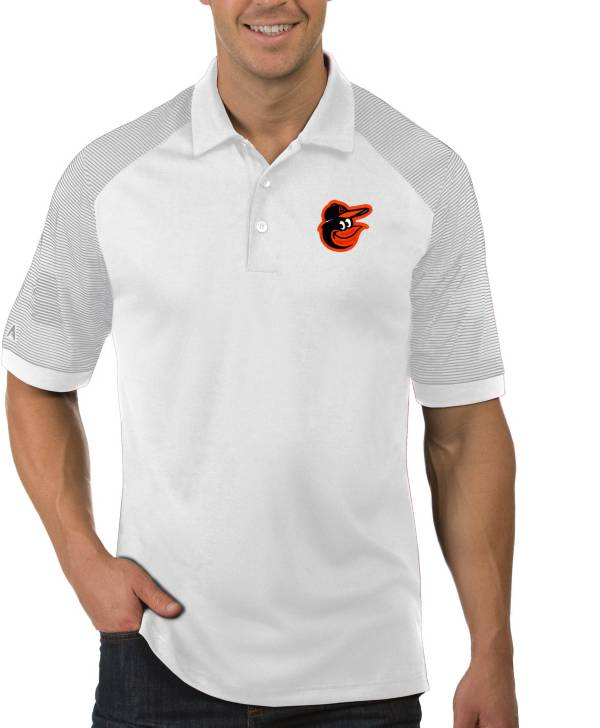 Antigua Men's Baltimore Orioles Engage White Polo product image