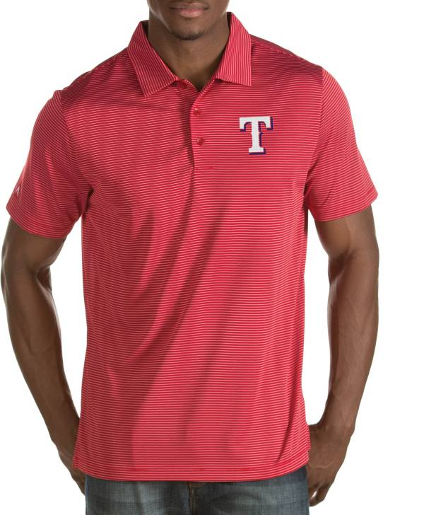 Antigua Men's Texas Rangers Quest Red Performance Polo product image