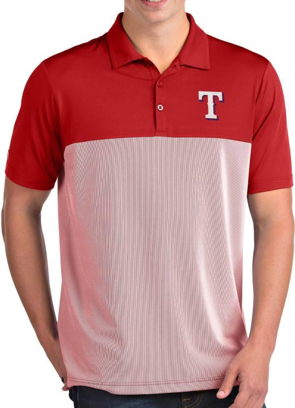 Antigua Men's Texas Rangers Venture Red Performance Polo product image