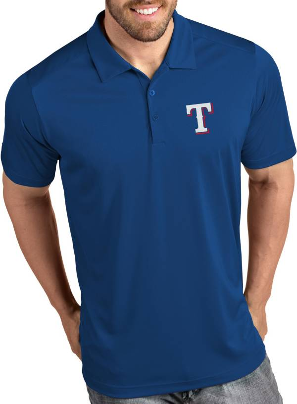 Antigua Men's Texas Rangers Tribute Royal Performance  Polo product image
