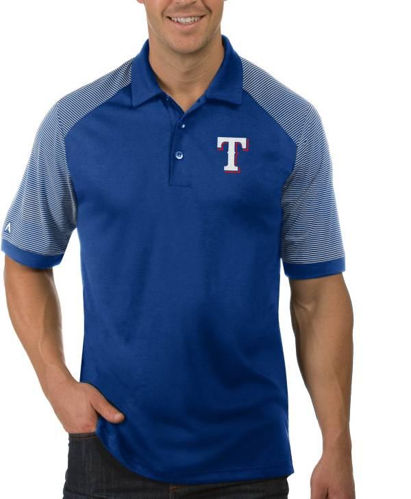 Antigua Men's Texas Rangers Engage Royal Polo product image