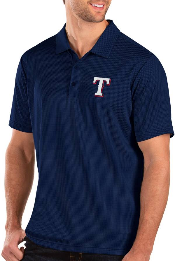 Antigua Men's Texas Rangers Royal Balance Polo product image