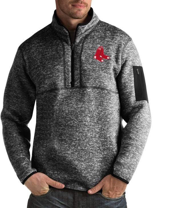 Antigua Men's Boston Red Sox Fortune Black Half-Zip Pullover product image